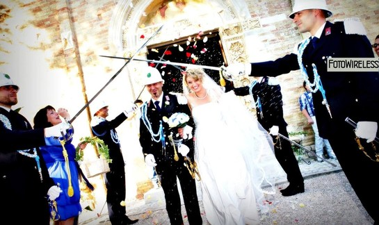 FotoWireless - matrimonio in alta uniforme in provincia di Pescara